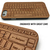 Keyboard Engrave on Wood Phone Cover Case for iPhone 7 6 5 Plus Samsung