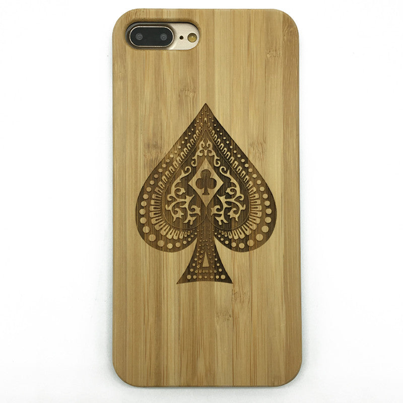 Ace of spade (Y022) - wood wooden phone cover case-jiacase