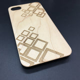 Geometric Wood Phone Case, Art Deco Case, Artsy Case, Triangles Case,