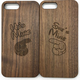Fingers (Y014) - wood wooden phone cover case-jiacase