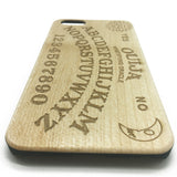 Ouija Board White Maple Wooden Cover iPhone 7 6 5 & Samsung S 7 6 Case