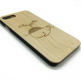 The whale blows comic whale wooden case phone cover,cartoon phone case