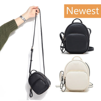 2017 Fashion Mini Shoulder Bag for Women Cross Body PU Leather Handbags (Color White & Black)