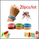 20pcs Non-toxic Mosquito Pest Bracelet From Mosquito Repellent Bracelet Baby Child Wristband Mosquito Repellent Trap Outdoor (Color: Multicolor)