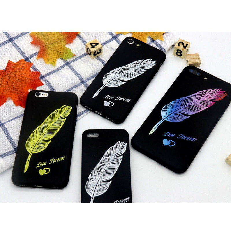 Feather Cases iPhone 5 5s 5c SE 6 6S 6Plus 6sPlus 7 7plus Phone Case  Soft Silicon Mobile Phone Cover