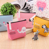 Mini Wallets Cute Cartoon Animal Partten Leather Zip Coin Purse Women Men Key Holder Students Clutch Bag Best Gift for Kids