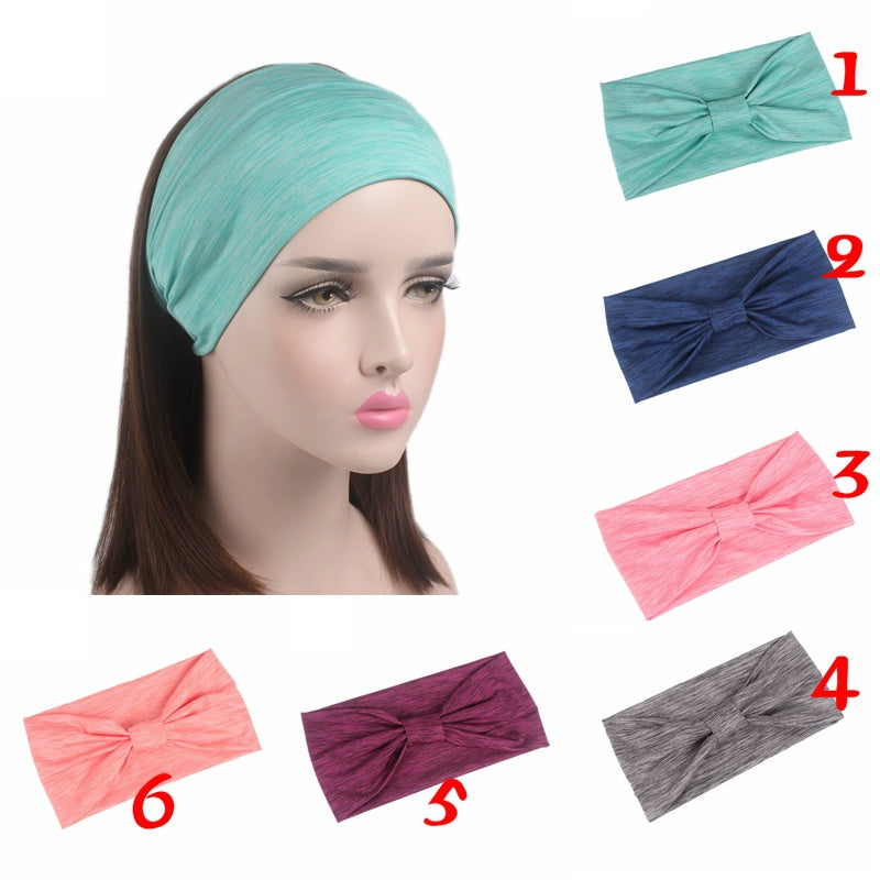 New Fashion Women Elastic Stretch Yoga Sport Headwear Make Up Wash Hairband Hair Bands Knotted Turban Hair Accessories