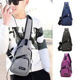 Men's Chest Bag Canvas Sling Bag Multifunctional Casual Travel Male Crossbody Bags Lovers' Favorite