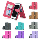 iPhone 5 6 7 Plus & Samsung Galaxy S8 PLUS Phone Case  Wallet Super Organizer Wallet Purse 14 Cards Holder with Detachable