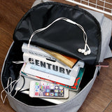 New Nylon External USB Charge School Backpack Multicolor Waterproof Unisex Backpacks Campus Students Study Supplies