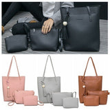 3Pcs/Set Tassel Purse Women Messenger Bags Office Lady Shoulder Bags Casual Handbags Tote Bag