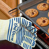 540 F Heat Proof Resistant Oven Glove BBQ Hot Surface Handler Kitchen Must Have (Size: 1pc, Color: Blue)