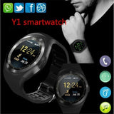 Smart Watch Phone Fitness Tracker Wristwatch with Heart Rate Monitor Full Round Touch Screen 280mAh Build-in Battery for Phones