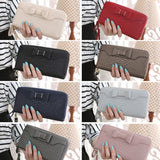 Hot Sale Women Lady Long Wallets Purse Female Candy Color Bow PU Leather Carteira Feminina for Coin Card Clutch Bag