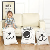 Hot Canvas Kids Toy Storage Bag Travel Cartoon Children Room Drawstring Organizer Bag Storage Pouch for Baby Toy Clothings