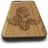 Lion Natural Wood Cover Case iPhone 7 Plus 6 6s 5 5s Totem Samsung Galaxy S7 S6 Edge S5