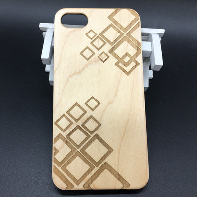 Geometric (Y043B) - wood wooden phone cover case-jiacase