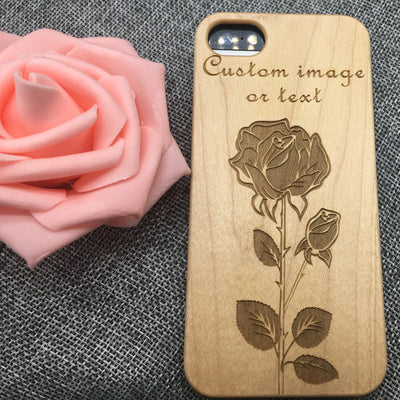 Custom characters (Y001) - wood wooden phone cover case-jiacase