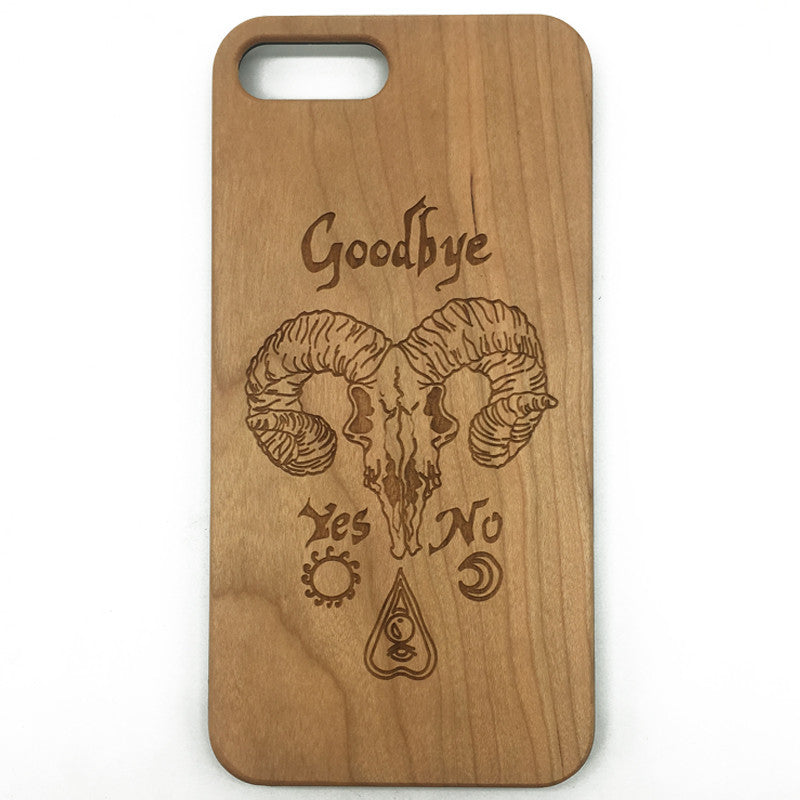 Ouija Board Skull Wood Wooden iPhone 7 6 5 Plus Case Samsung Galaxy S7 S6 Edge S5
