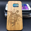 Sea Turtle with Tribal Design,Samsung Galaxy S,iPhone 4,5, 5S,6, 6s, 6+, 7, 7+