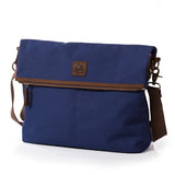 Men's Women Canvas Shoulder Messenger School Book Bag Satchel Crossbody bag (GY05)