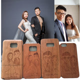 Personalized Custom 100% Natural Wood Phone Case Engraved Cover iPhone & Samsung Galaxy Case