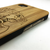 Sea Turtle Tribal Tattoo Sea Hawaiian Honu Fish Wood Phone Case iPhone