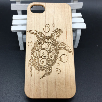 Sea Turtle (Y007B) - wood wooden phone cover case-jiacase