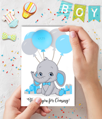Elephant Boy Baby Shower