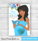 Baby Shower Favors Eos Balm Holder African American Mom-to-be - PRINTABLE PDF