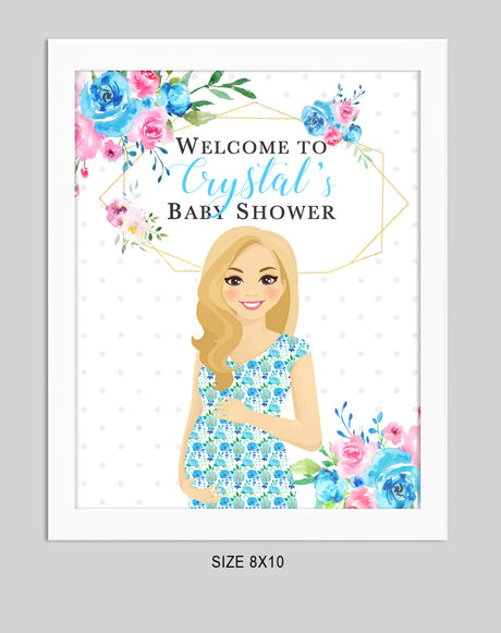 Welcome Sign for Crystal's Baby Shower - INSTANT DOWNLOAD