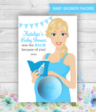 Eos Balm Holder Baby Shower Favors Pregnant Mom-to-be with book and baby bottle - PRINTABLE PDF