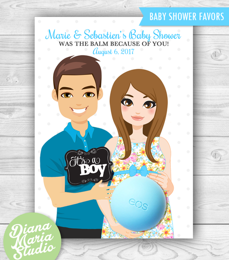 Eos Balm Holder Favors for Couple Baby Shower - Printable PDF