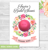 Bridal Shower Favors Floral Wreath Eos Balm Holder - Printable PDF