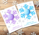 Christmas Gift Snowflake Eos Lip Balm Holder - Printable DIY Snowflake Card Template - Stocking fillers - INSTANT DOWNLOAD