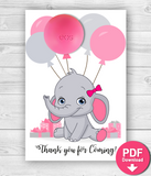 Balloon Eos Balm Holder Elephant Baby Shower Favors - INSTANT DOWNLOAD