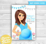 Eos Baby Shower Favors Tea Party Eos Balm Holder- PRINTABLE CARD
