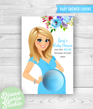 Floral Baby Shower Eos Baby Shower Favors Belly Balm Holder- PRINTABLE CARD