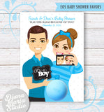 Couples Baby Shower Favor Card for eos lip balm Parents-to-be Selfie - Printable PDF
