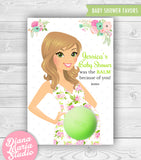 Floral Baby Shower Favors Eos Balm Holder - PRINTABLE PDF