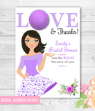 Eos Bridal Shower Favors - Love Balm holder - Bride to be Illustration - DIY Favors - PRINTABLE PDF