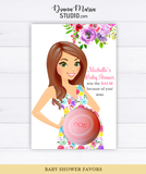 Eos Balm Holder Baby Shower Favors Floral Baby Shower Theme - PRINTABLE CARD