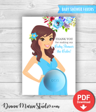 Eos Baby Shower Favors Eos Balm Holder Floral Baby Shower - INSTANT DOWNLOAD