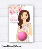 Boy Baby Shower Party Favors - PRINTABLE CARD for eos lip balm