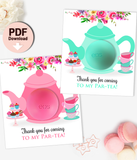Eos Baby Shower Favors Teapot Eos Balm Holder Tea Party Baby Shower - INSTANT DOWNLOAD