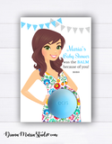 Fiesta Baby Shower Favors Eos Balm Holder - Printable PDF