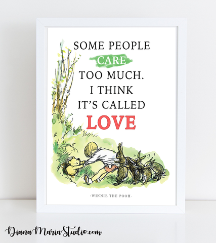 Milne Nursery Quote Winnie the Pooh Love Quote Shepherd illustration PDF Download
