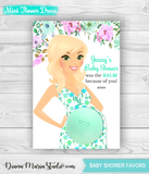 Floral Baby Shower Favors Eos Balm Holder Floral Baby Shower - PRINTABLE CARD
