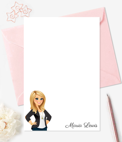 DIY Note Cards Personalized Stationery Custom Illustration - Printable Note Card