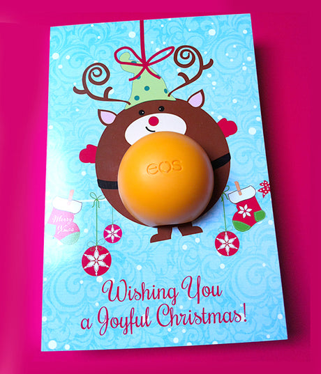 Christmas Gift Reindeer Eos balm holder - DIY Christmas ornament 2017 Stocking fillers - Reindeer ornament - Printable Template